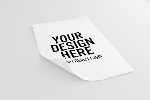 Лист бумаги макет