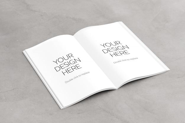 雑誌のページを開く