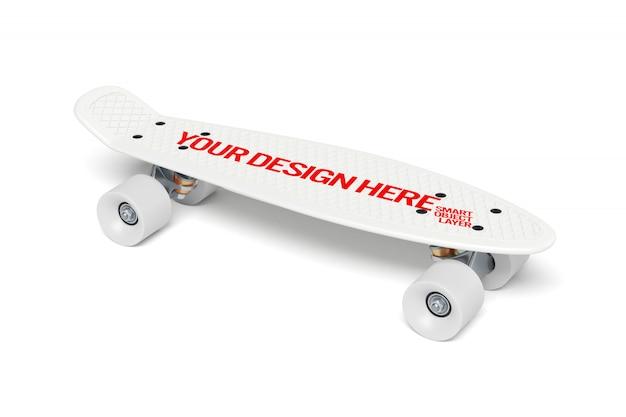 スケートボードモックアップのビュー