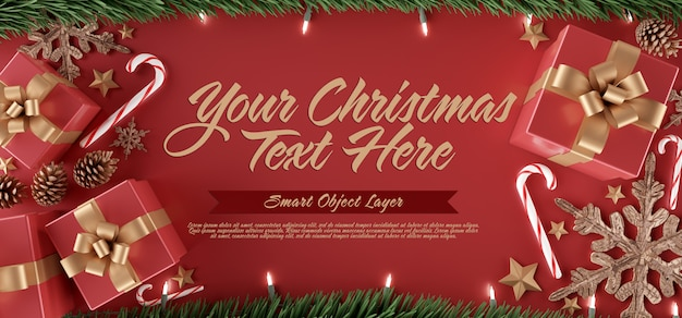 クリスマスシーンのテンプレート