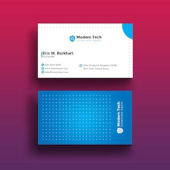 Простая визитная карточка
