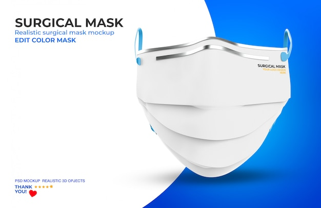 Хирургическая маска макет