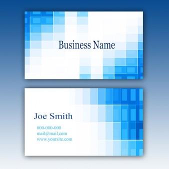青色のビジネスカードテンプレート