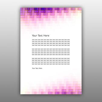 紫抽象的なパンフレットのデザイン
