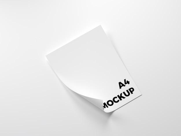 空白の紙がモックアップ