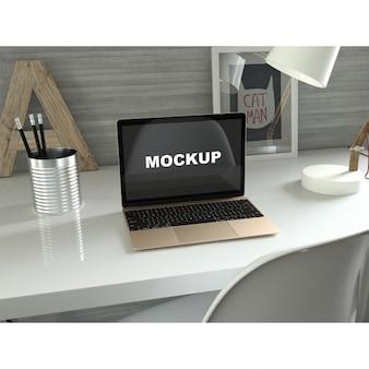 Реалистичная презентации ноутбук