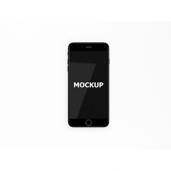 ブラックスマートフォンのモックアップ