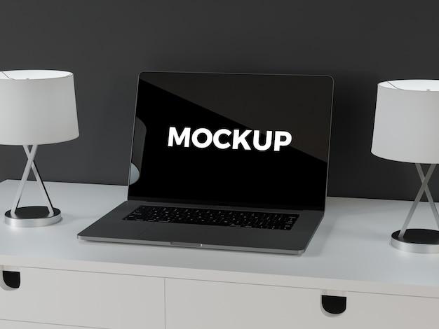 ノートパソコンのモックアップ