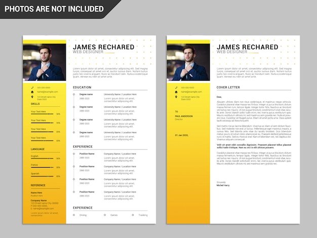 履歴書テンプレート、プロフェッショナル履歴書テンプレート、クリエイティブ履歴書、モダン履歴書テンプレート