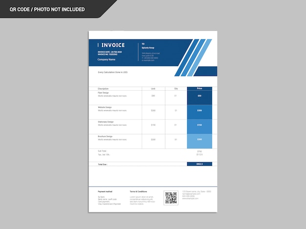 Дизайн счета