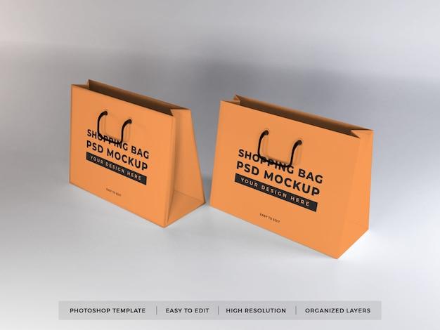現実的な買い物袋のモックアップ