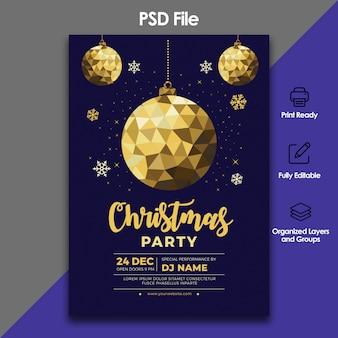 クリスマスのお祝いと招待状のテンプレート