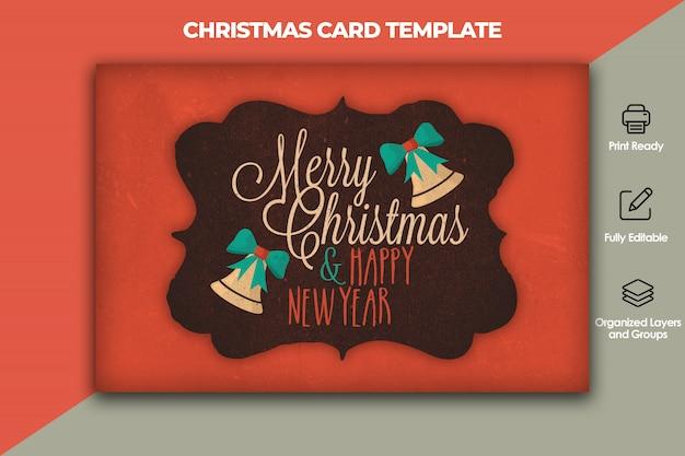 クリスマスと新年のカードテンプレート