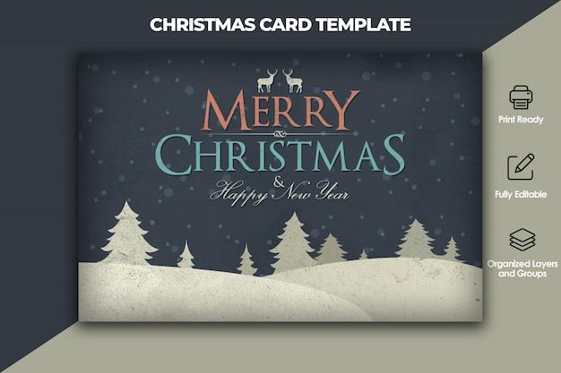 Шаблон карты рождество и новый год