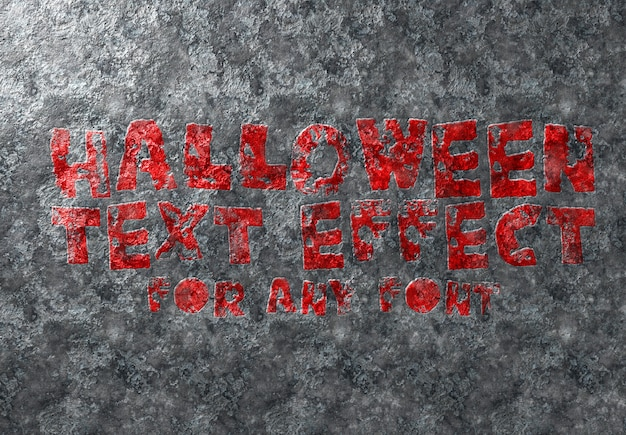 Хэллоуин текстовый эффект макет
