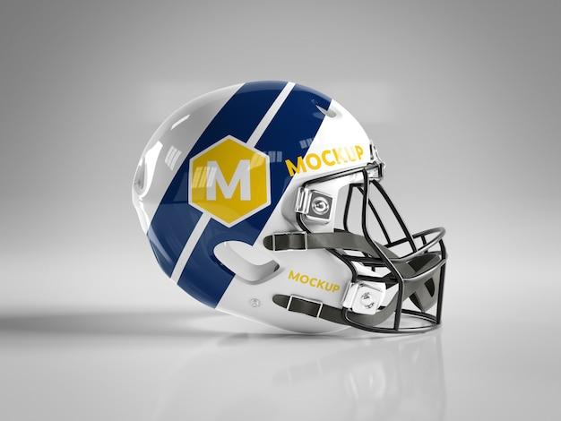 アメリカンフットボールヘルメットモックアップ