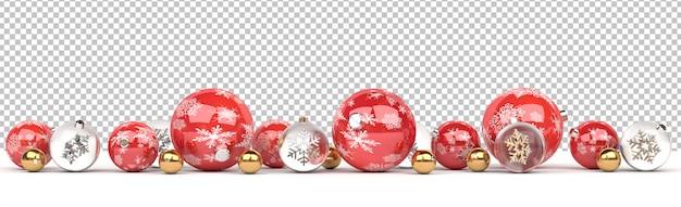 孤立した赤とガラスのクリスマスつまらないものを切り取る