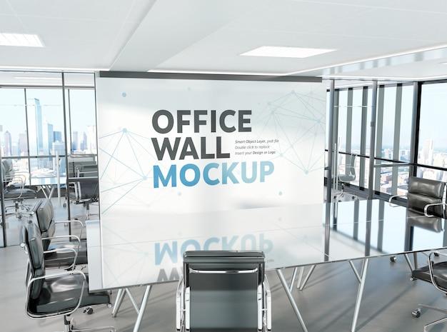 近代的なオフィスモックアップの会議室