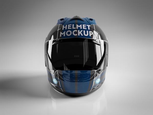 白で隔離されるオートバイヘルメット
