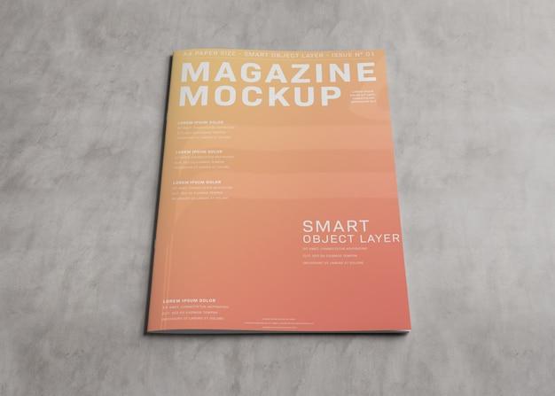 木の表面の雑誌の表紙