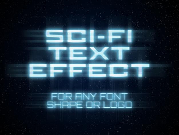 Научно-фантастический текстовый эффект