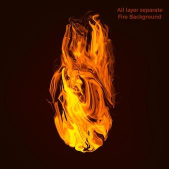 Пламя высокого качества