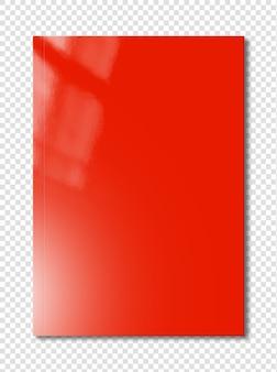 Шаблон обложки красного буклета