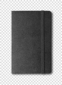 白で隔離される黒い閉じたノート