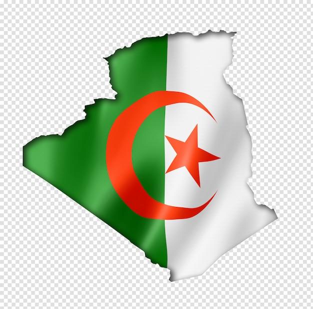 アルジェリアの旗地図