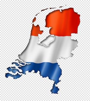 オランダの旗の地図