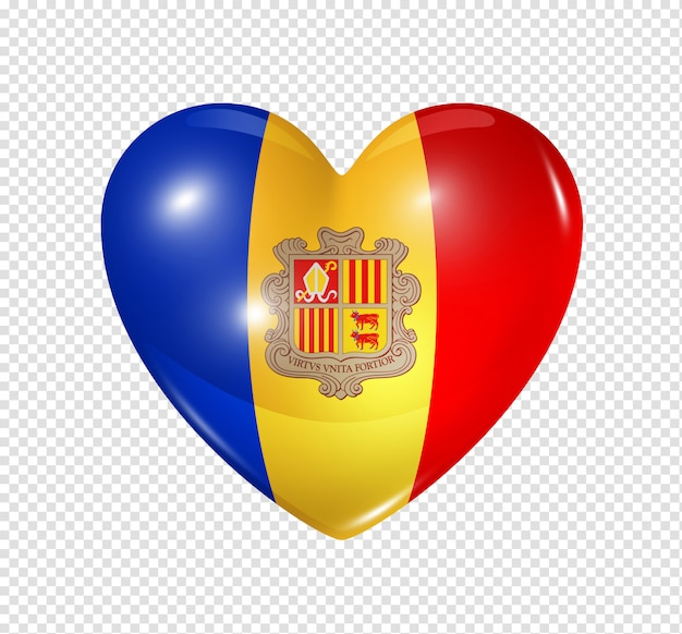 Любовь андорра, символ сердца флаг