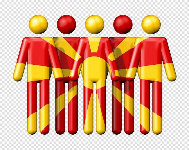 スティック図にマケドニアの旗