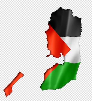 パレスチナの旗の地図