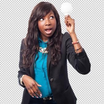 Чернокожая женщина с идеей