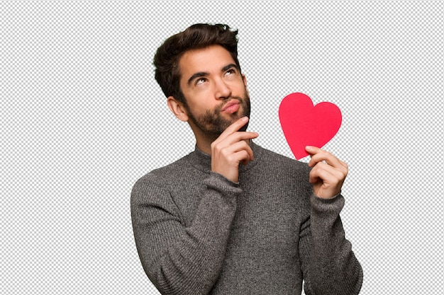若い男を祝うバレンタインデー
