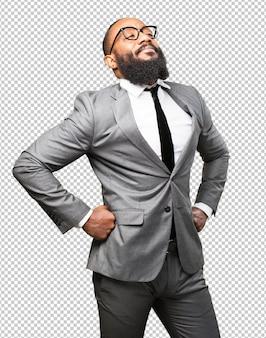 誇りを持ってビジネス黒人男性