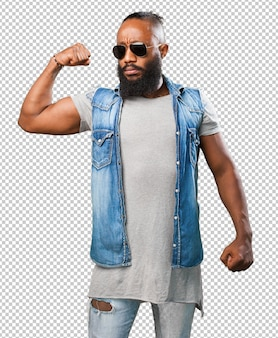 強い黒人男性