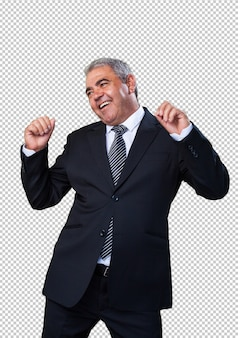 踊るビジネスマン