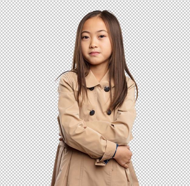 Китайская маленькая девочка скрещивание рук