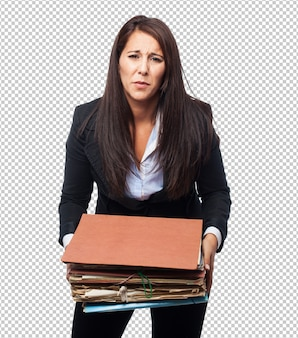 ファイルを持つクールなビジネスウーマン