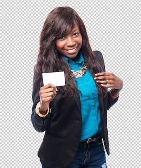 Крутая визитная карточка негритянки