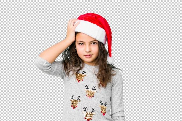 ショックを受けているクリスマスの日を祝う少女、彼女は重要な会議を覚えています。