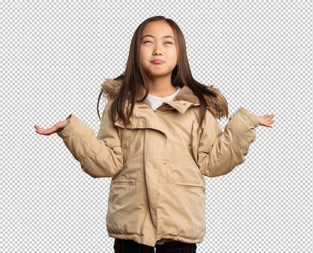 疑う中国の少女