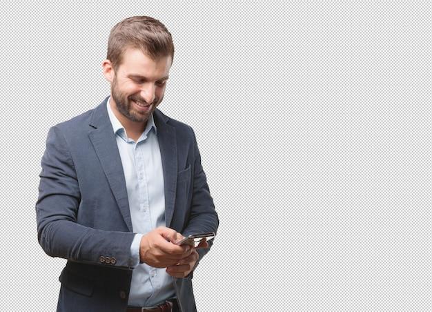 ビジネスマン、スマートフォン