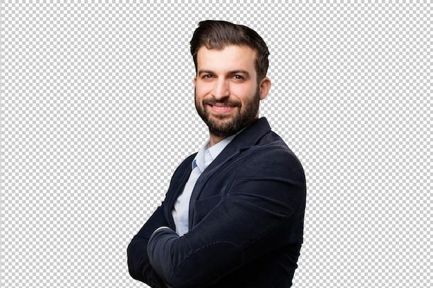 双眼鏡を持つシニア美しい女性