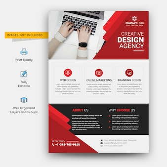 Флаер шаблон агентства креативного дизайна