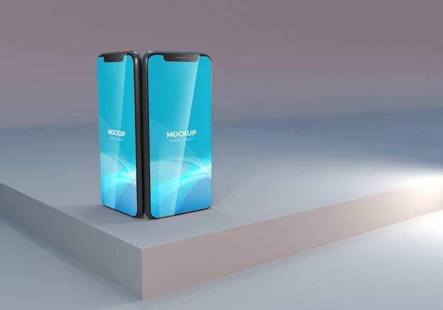 Элегантная презентация макета смартфона