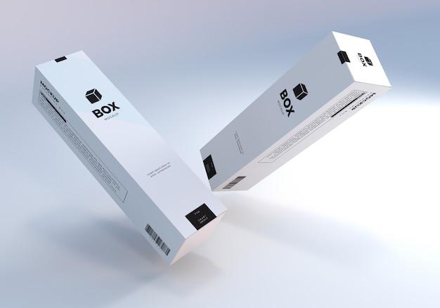 フローティングトールパッケージングボックスのモックアップ