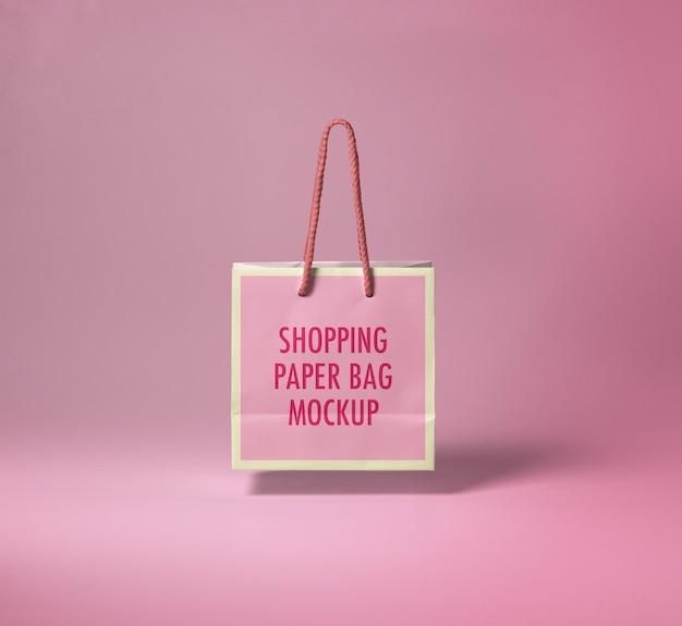ショッピング紙袋モックアップ