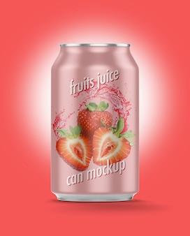 ジュース缶モックアップ
